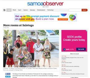 Samoa Observer Article